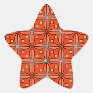 U-pick Color/ Iron Celtic Good Fortune Flower Star Sticker