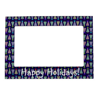 U Pick Color/ Merry Christmas Holiday Trees Magnetic Photo Frame