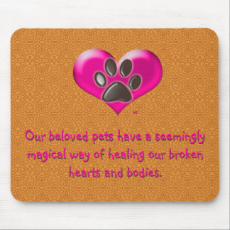 U-pick Color/Paws of Heart and Health Healing Mouse Pad