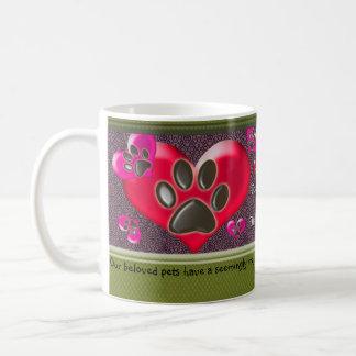 U-pick Color/Paws of Heart and Health Healing Classic White Coffee Mug