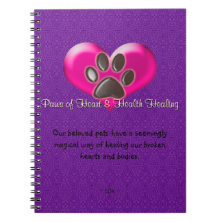 U-pick Color/Paws of Heart and Health Healing Notebook