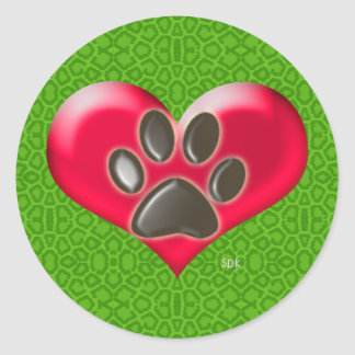 U-pick Color/Paws of Heart and Health Healing Stickers