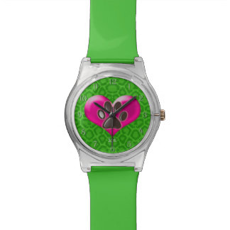 U-pick Color/Paws of Heart and Health Healing Wrist Watch