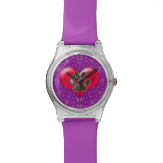 U-pick Color/Paws of Heart and Health Healing Wrist Watches