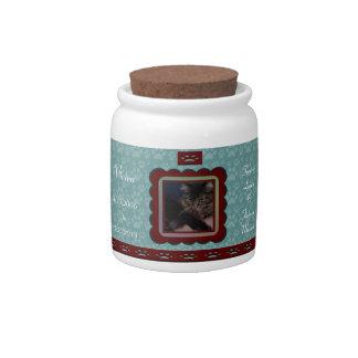 U Pick Color/Personalized Pet Memorial Candy Jar