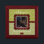 "U Pick Color/Personalized Pet Memorial Keepsake Box<br><div class=""desc"">The image was designed with softness in mind using ribbons and curves of a deep red velvety looking texture. The animal memorial for this product is designed for you to be able to personalize it specifically to your lost beloved pet, particularly a cat or dog, or to give to someone...</div>"