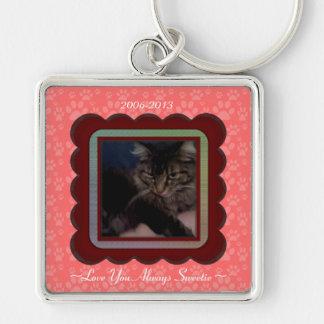 U Pick Color/Personalized Pet Memorial Keychain