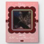 U Pick Color/Personalized Pet Memorial Display Plaque