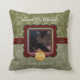 U Pick Color/Personalized Pet Memorial Throw Pillow