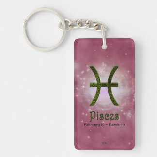 U Pick Color/ Pisces Personalize Lost & Found Keychain