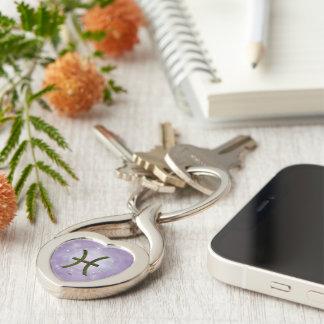 U Pick Color/ Pisces Zodiac Sign Keychain