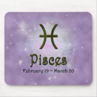 U Pick Color/ Pisces Zodiac Sign Mouse Pad