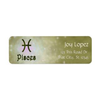 U Pick Color/ Pisces Zodiac Sign Personalize Label