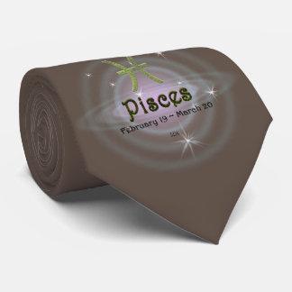 U Pick Color/ Pisces Zodiac Sign Tie