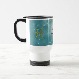 U Pick Color/ Pisces Zodiac Sign Travel Mug