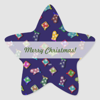 U Pick Color/ Potholder Oven Mitts with Snowflakes Star Sticker