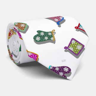 U Pick Color/ Potholder Oven Mitts with Snowflakes Tie