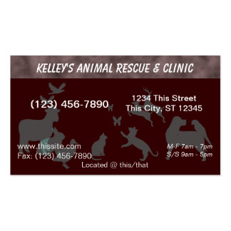 U-pick Color Professional Animal Hospital Business Card Template