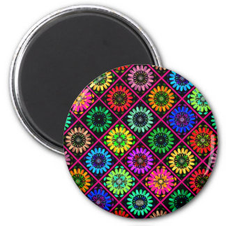 U Pick Color/ Radiant Scrapbook Flowers on Display 2 Inch Round Magnet