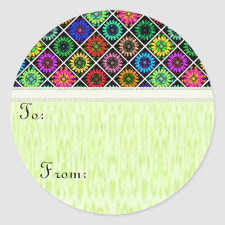 U Pick Color/ Radiant Scrapbook Flowers on Display Classic Round Sticker