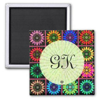 U Pick Color/ Radiant Scrapbook Flowers on Display Magnet