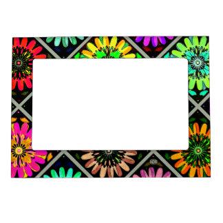 U Pick Color/ Radiant Scrapbook Flowers on Display Magnetic Picture Frame