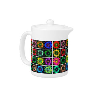 U Pick Color/ Radiant Scrapbook Flowers on Display Teapot