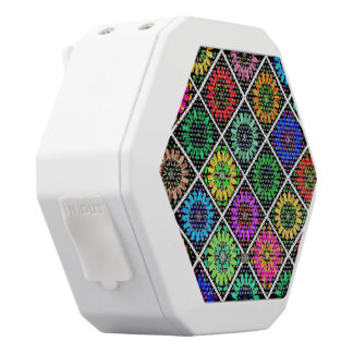 U Pick Color/ Radiant Scrapbook Flowers on Display White Bluetooth Speaker