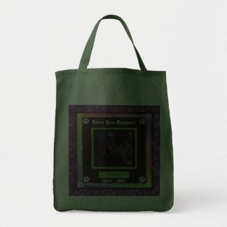 U Pick Color/Rainbow Personalized Pet Memorial Bag