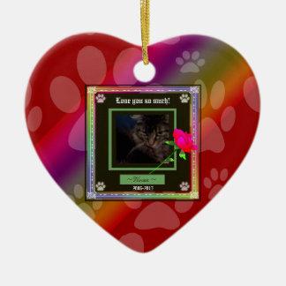U Pick Color/Rainbow Personalized Pet Memorial Ceramic Ornament