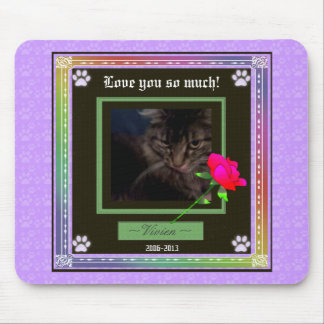 U Pick Color/Rainbow Personalized Pet Memorial Mouse Pad