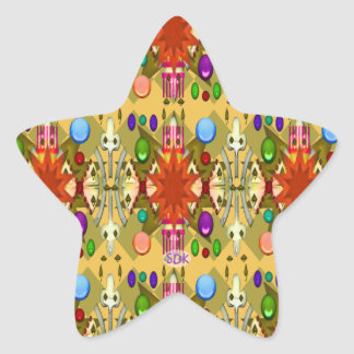 U-pick Color/Renaissance Party Cathedral Celebrate Star Sticker