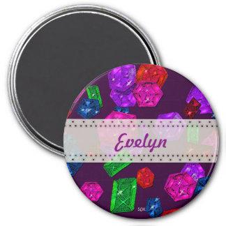 U pick Color/ Royal Birthstone Jewels & Gems 3 Inch Round Magnet