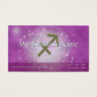 U Pick Color/ Sagittarius Zodiac Sign Personalize Business Card