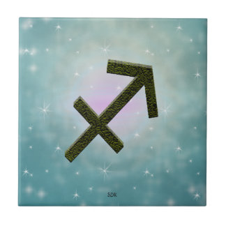 U Pick Color/ Sagittarius Zodiac Sign Tile
