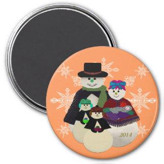 U Pick Color/Snowman 3rd After Twins 1st Christmas Magnet