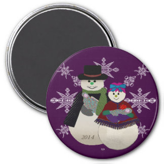 U Pick Color/ Snowman Twin Babys' First Christmas Magnet