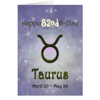 U Pick Color/ Taurus Happy Birthday Age Card