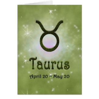 U Pick Color/ Taurus Happy Birthday Card