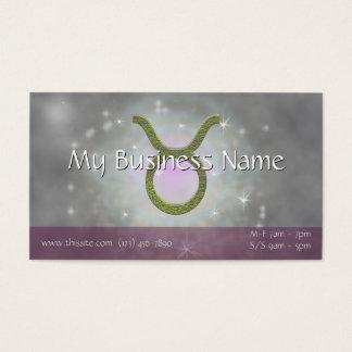 U Pick Color/ Taurus Zodiac Sign Personalize Business Card