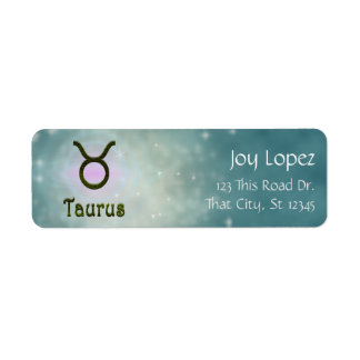 U Pick Color/ Taurus Zodiac Sign Personalize Label