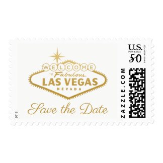 U PICK COLOR & TEXT | Gold Vegas Sign Postage