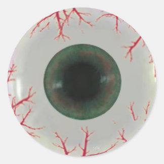 U Pick Color Tint/ Halloween Eyeball Globe Classic Round Sticker