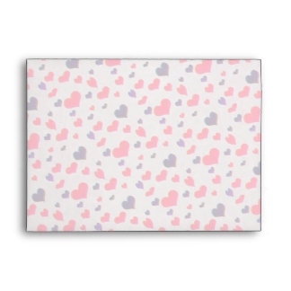 U Pick Color/ Valentine's Day  Fluttering Hearts Envelope