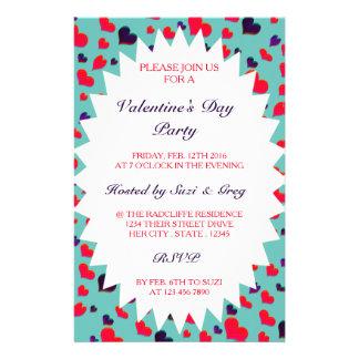 U Pick Color/ Valentine's Day  Fluttering Hearts Flyer