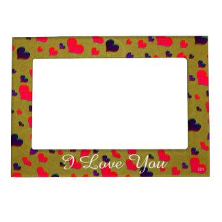 U Pick Color/ Valentine's Day  Fluttering Hearts Magnetic Photo Frame