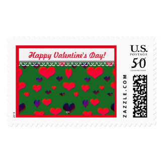 U Pick Color/ Valentine's Day Fluttering Hearts Postage