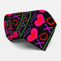 U Pick Color/ Valentine's Day Hugs and Kisses Neck Tie