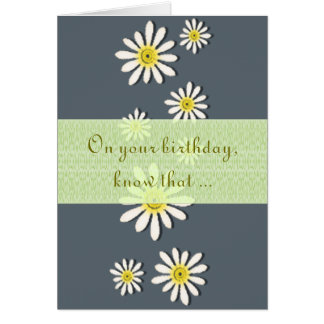 U-pick Color/ Whimsical Wildflower Daisy Sprinkles Card