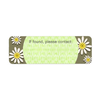 U-pick Color/ Whimsical Wildflower Daisy Sprinkles Label
